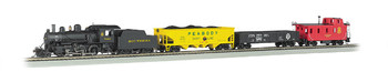 Bachmann 00825 HO Scale Echo Valley Ready To Run DCC Electric Train Set with DCC Sound Locomotive