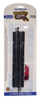 """Bachmann 44410 HO Scale 9"""" STRAIGHT TERMINAL RERAILER WITH WIRE"""