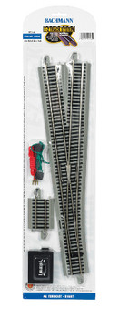Bachmann 44560 HO Scale E-Z Track #6 Turnout - Right