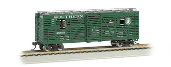 Bachmann 19702 HO Scale SOUTHERN - 40FT ANIMATED STOCK CAR W/ HORSES