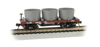 Bachmann 15554 N Scale U.S. MILITARY RR- OLD-TIME WATER TANK CAR