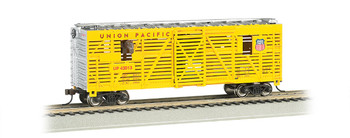 Bachmann 19701 HO Scale UNION PACIFIC - 40FT ANIMATED STOCK CAR W/ HORSES