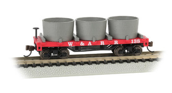 Bachmann 15551 N  Scale WESTERN & ATLANTIC - OLD-TIME WATER TANK CAR