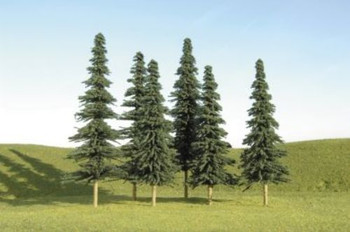 """Bachmann 32158 HO Scale Scene Scapes Trees 4""""- 6"""" Spruce Trees Train"""