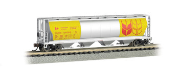 Bachmann 19184 N Scale GOVERNMENT OF CANADA - 4 BAY CYLINDRICAL GRAIN HOPPER