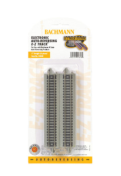 "Bachmann 44848 N Scale E-Z Track Nickel Silver Auto-Reversing 5"" Track (6/card)"