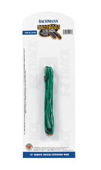 Bachmann 44598 HO Scale E-Z Track 10' Remote Switch Extension Wire - Green