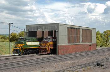 Bachmann 35116 HO Scale Double Stall Shed
