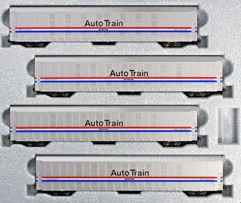 Kato 106-5507 N Scale Autorack Amtrak Phase III 4-Car Set #1