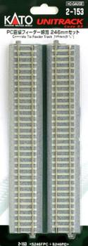 Kato 2-153 HO Scale unitrack PC line feeder line 246mm set (japan import)