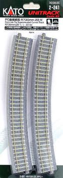 Kato 2-241 HO Scale R730-22.5 unitrack PC curve line (4 pieces) (japan import)