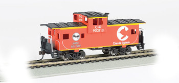 Bachmann 17707 HO Scale Chessie #903118 - Orange - 36' Wide-Vision Caboose