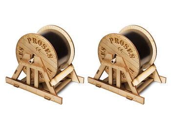 Bachmann 39113 O Scale Cable Drums (2 per pack)