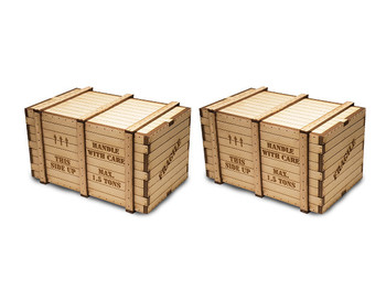 Bachmann 39112 O Scale Machinery Crates (2 per pack)