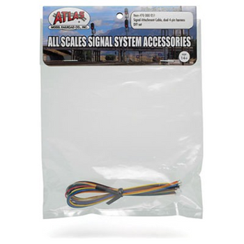 Atlas 70000051 Signal Attachment Cable - All Scales-- Dual 4-pin harness DIY set