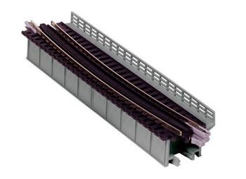 "Kato 20-467 N Scale Single Curve Girder Bridge, Gray - 448mm (17.6"") Radius 15º"