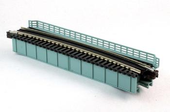 "Kato 20-472 N Scale Curved Deck Girder Bridge, Gray - 481mm (19"") Radius 15º"