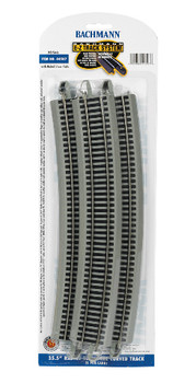 Bachmann 44507 HO Scale E-Z Track 35.50Radius 18 Degree Curved Track (5/card)