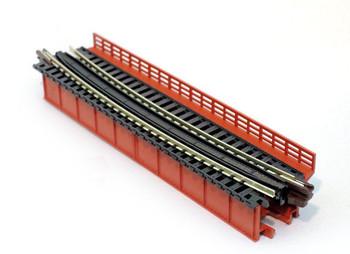 "Kato 20-465 N Scale Single Curve Girder Bridge, Red - 448mm (17.6"") Radius 15º"