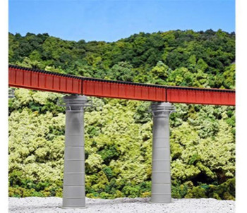 Kato #20-824 N Scale Unitrack Curved Bridge Set Red, 19 481mm- 60 °