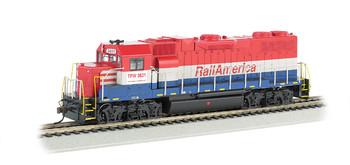 Bachmann 61718 HO Scale EMD GP38-2 Rail America Diesel Locomotive