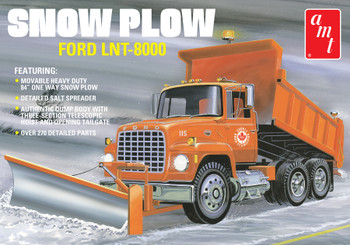 AMT 1178 1:25 Ford LNT-8000 Snow Plow Scale Model Kit