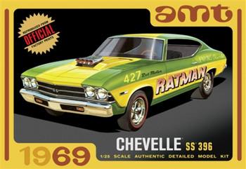AMT 1138 1:25 1969 Chevy Chevelle Hardtop Model Kit