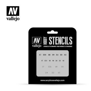 Vallejo ST-AFV003 Soviet Numbers WWII