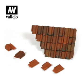 Vallejo SC230 Damaged Roof Section and Tiles