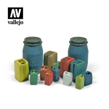 Vallejo SC211 Assorted Modern Plastic Drums (no. 2)