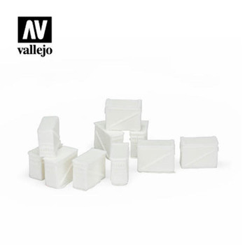 Vallejo SC221 Large Ammo Boxes 12,7 mm