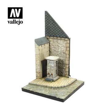 Vallejo SC004 Street Corner with Waterpump Normandy