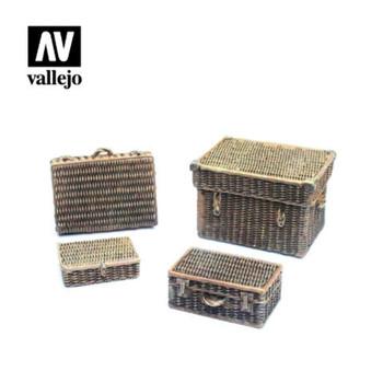 Vallejo SC227 Wicker Suitcases