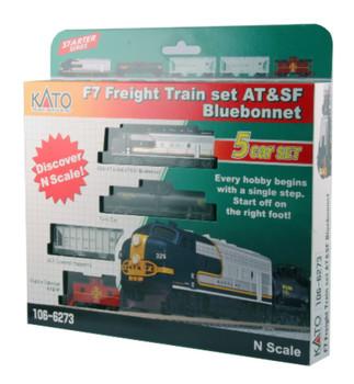Kato 1066273DCC N F7 Freight Train Set - AT&SF Bluebonnet w/DCC