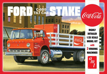 AMT 1147 1:25 Ford C600 Stake Bed W/Coca-Cola Machines Model Kit