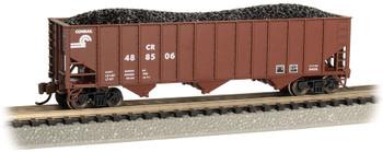 Bachmann 18752 N Scale Bethlehem Steel 100 Ton 3 Bay Hopper Conrail #488506