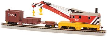 Bachmann 16104 HO Scale 250 Ton Steam Crane & Boom Tender Canadian National