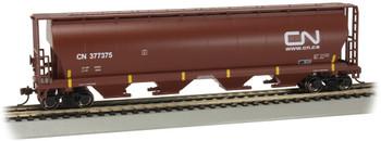 Bachmann 19103 HO Scale 4 Bay Cylindrical Grain Hopper CN #377375