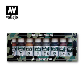 Vallejo 70122 Rust, Tracks and Rubber (8 PK)