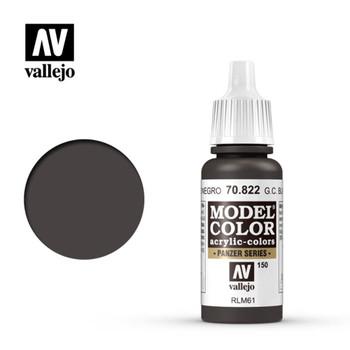Vallejo 70822 German Camouflage Black Brown 17 ml