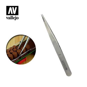 Vallejo T12003 Straight Fine Tweezers (120 mm)