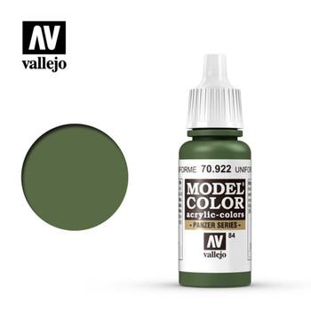Vallejo 70922 Uniform Green 17 ml