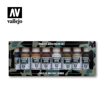 Vallejo 70123 Wood, Leather and Stencil (8 PK)