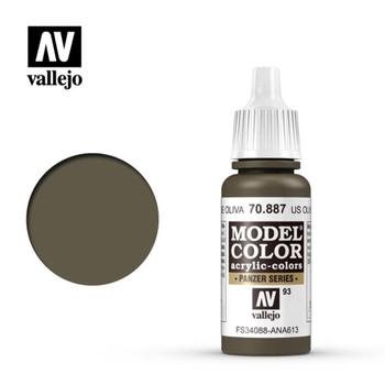 Vallejo 70887 US Olive Drab 17 ml