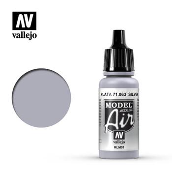 Vallejo 71063 Silver RLM01 (Metallic) 17 ml