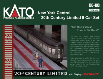 Kato 106100 N Scale NYC 20TH CENTURY 9 CARS