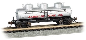 Bachmann 17158 N Ambrose Wine Co. - 3-Dome Tank Car