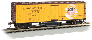 Bachmann 16331 HO Agar Packing Co. - Track-Cleaning 40' Wood-Side Reefer