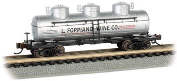 Bachmann 17159 N L. Foppiano Wine Co. - 3-Dome Tank Car