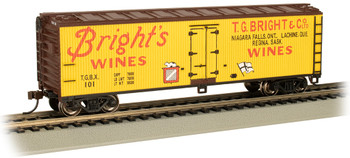 Bachmann 19809 HO Bright's Wines - 40' Wood-side Refrig Box Car